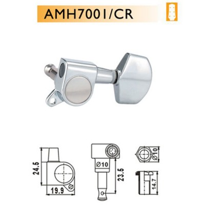 DR PARTS AMH7001/CR - колки на акустическую гитару