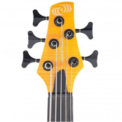 LIGHTWAVE VL- 5 Transparent Amber - Бас гитара пятиструнная (оптический звукосниматель)