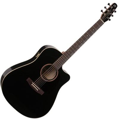 SEAGULL 034208 - Entourage CW Black GT QI (Made in Canada) - Акустическая гитара с вырезом и подключением