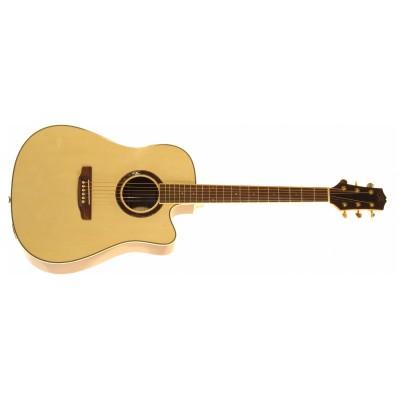 SX DG200CE+/NA - Акустическая гитара с вырезом и подключением
