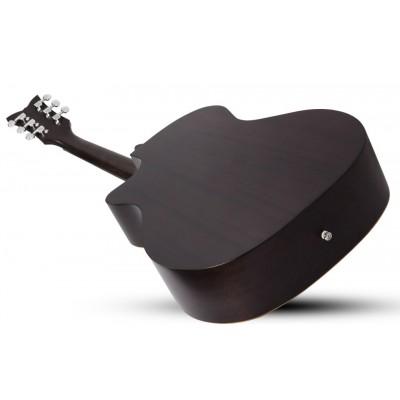 SCHECTER DELUXE ACOUSTIC SSTBLK - Акустическая гитара