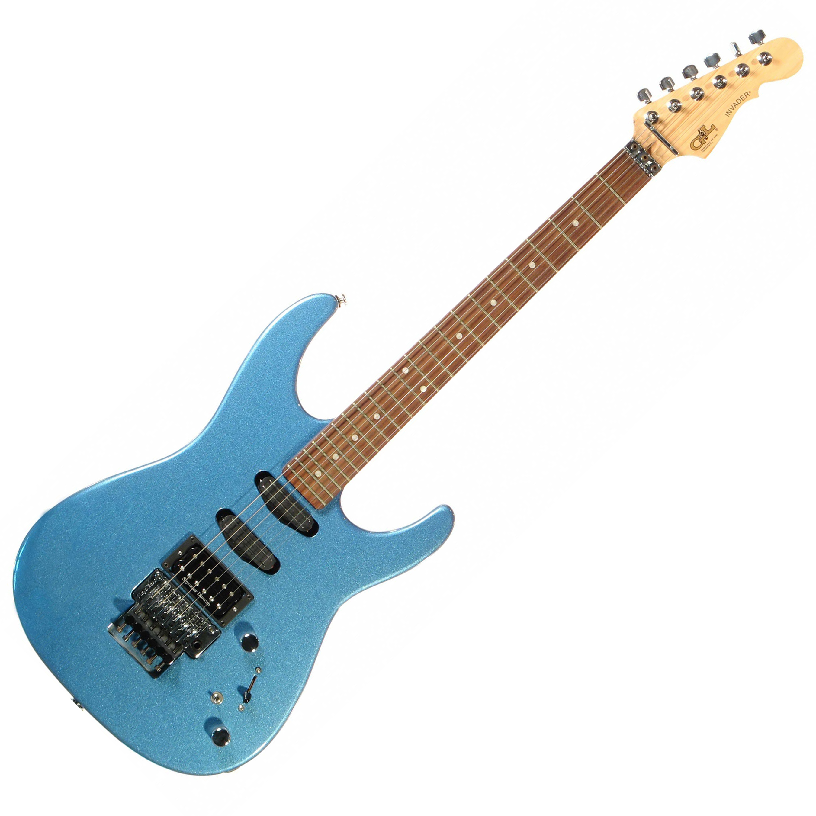 G&L INVADER (Lake Placid Blue, rosewood) (+HOT RAILS). № CLF52384. Made in USA